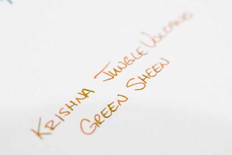 krishna jungle volcano fountain pen ink sheen