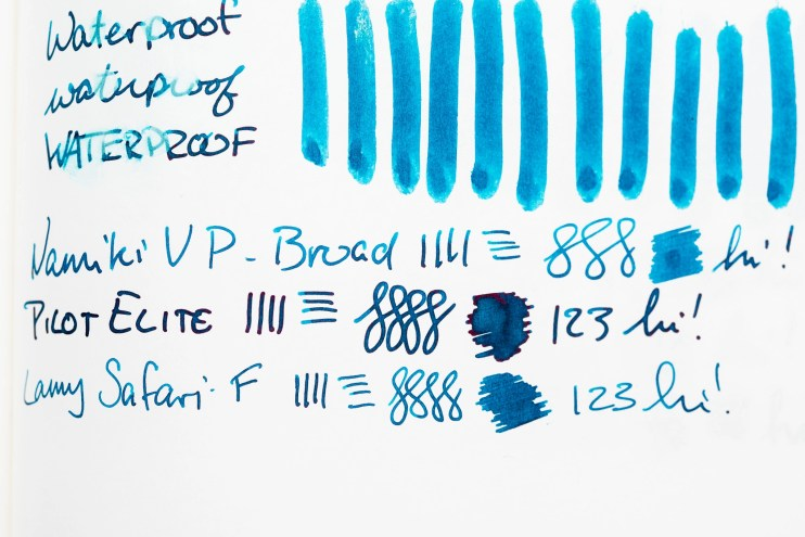 fountain pen ink shading blue ink