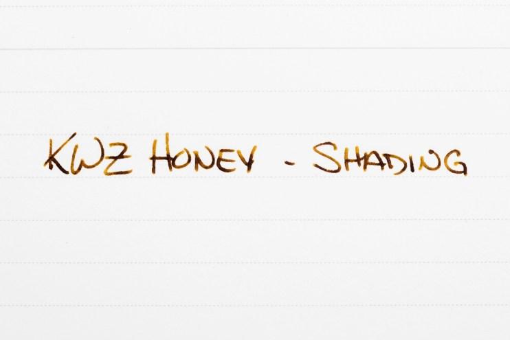 fountain pen ink shading kwz honey