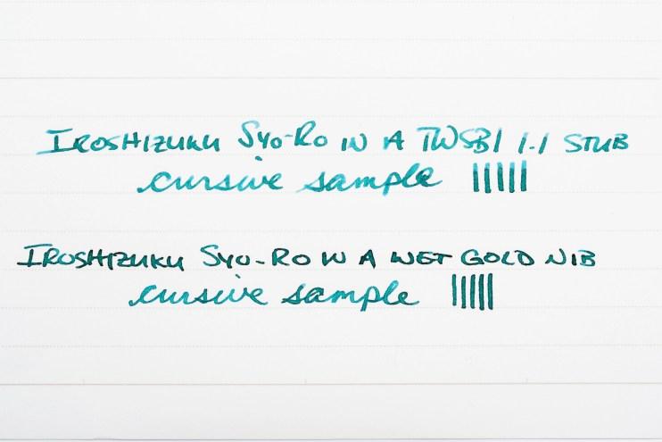 iroshizuku syo ro fountain pen ink in twsbi