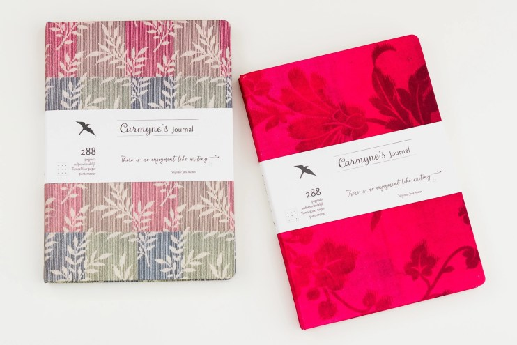Carmynes Journal notebook cover options