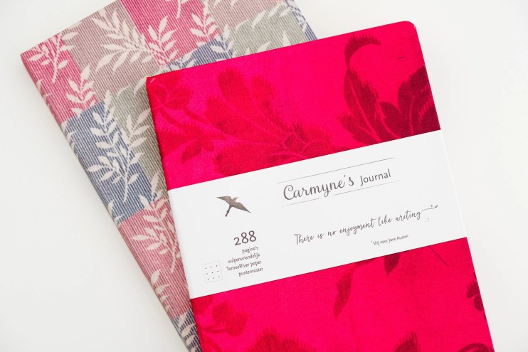 Carmynes Journal notebook fabric cover