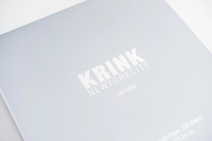 Krink notepad silver cover