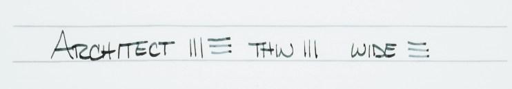choosing a fountain pen nib for beginners architect writing sample