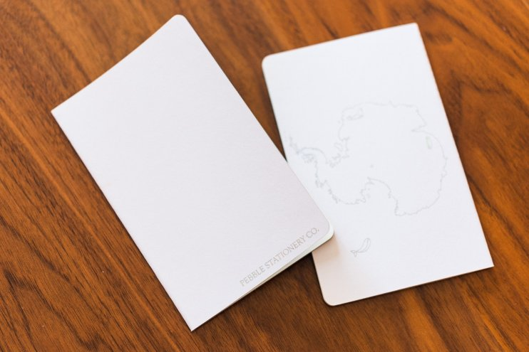 Pebble Stationery Antartica Notebook back cover