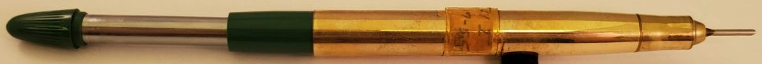 Sheaffer 1041-I with snorkel system extended, showing how system works