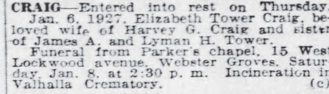 Obituary for Elizabeth Craig