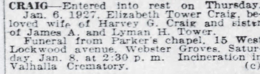 Obituary for Elizabeth Craig