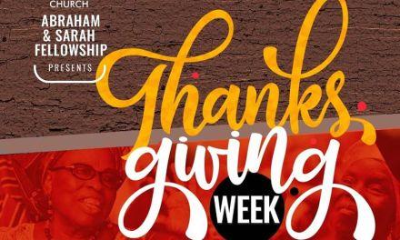 Abraham & Sarah Fellowship Hold Thanksgiving Week