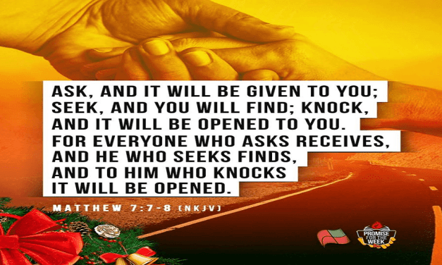 Promise for the Week – Matthew 7:7-8