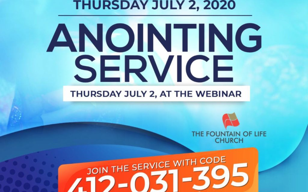 Join Us for July Anointing Service