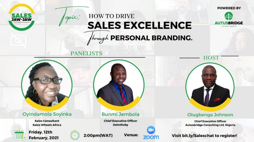 'Building a Personal Brand is Expensive', Gbenga Johnson Reveals at Sales Jaw-Jaw
