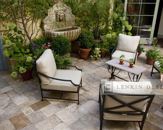 french country outdoor patio furniture Lovely French Style Garden Design – A Parisian Courtyard