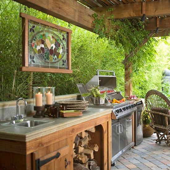 20 Ideas and Examples of Well-Arranged Outdoor Kitchens ... on Patio Grilling Area  id=92437