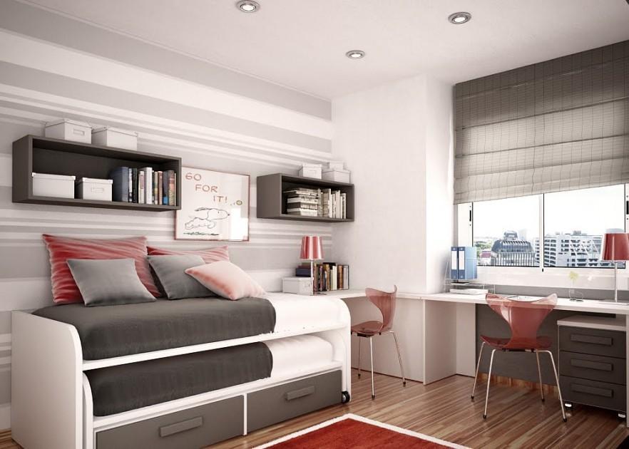 Junior and Teen Bedroom Interior Designs by Nueva Linea ... on Teenage Small Room Ideas  id=51577