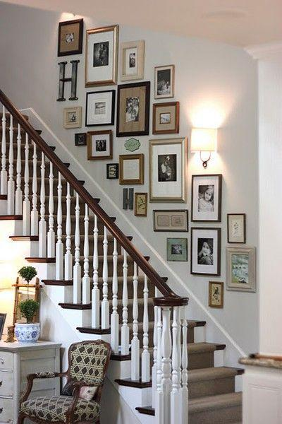 Staircase Decor Ideas for Wall and Niches | Founterior on Creative Staircase Wall Decorating Ideas  id=89688