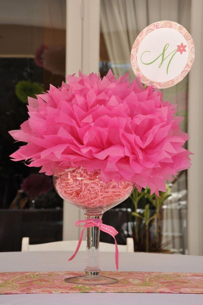Elegant Baby Showers Tables Centerpiece