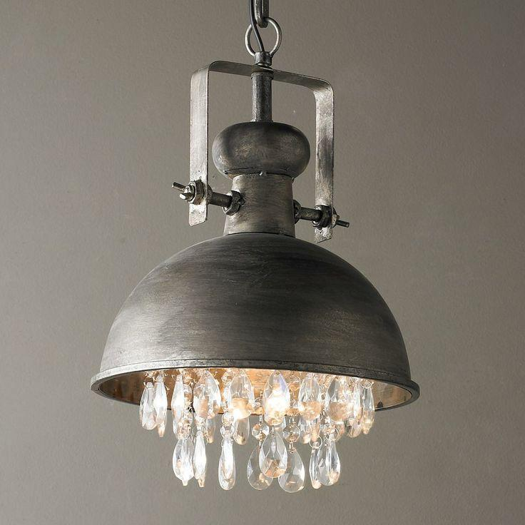 Industrial Pendants With Large Black And Other Shades Founterior