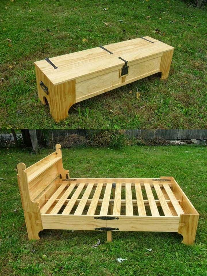 Pallet bed frame 1 - flexible and folding | | Founterior on Bed Pallet Design  id=40524