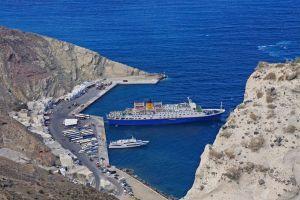 Пассажирский порт на о. Санторини: паром из афин