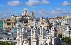 Панорама Мадрида с обзорной площадки Сибелес