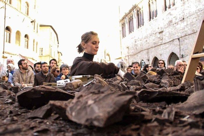Скульптуры из шоколада (Перуджа, Италия)