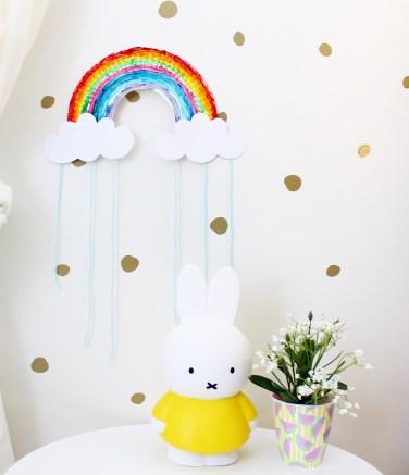 Rainbow Craft for Kids | kids Bedroom Ideas | Nursery Art, Kids Room Decor