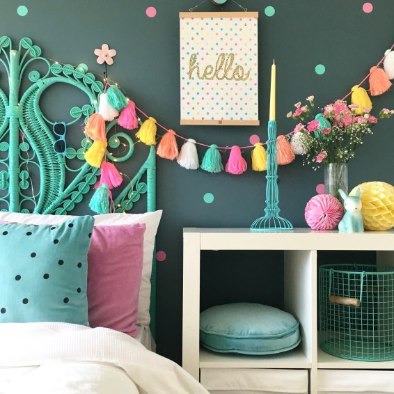 Bedroom and Interior Inspiration for kids - my daughter Summer's bedroom. More ideas on the blog
