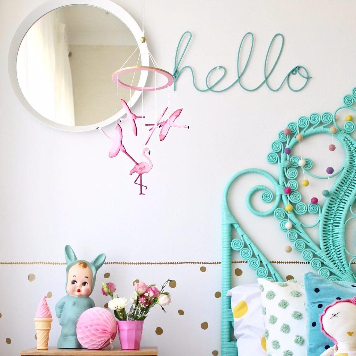 Flamingo Mobile - nursery and children's decor by Sun and Co. Nursery and children's bedroom ideas.