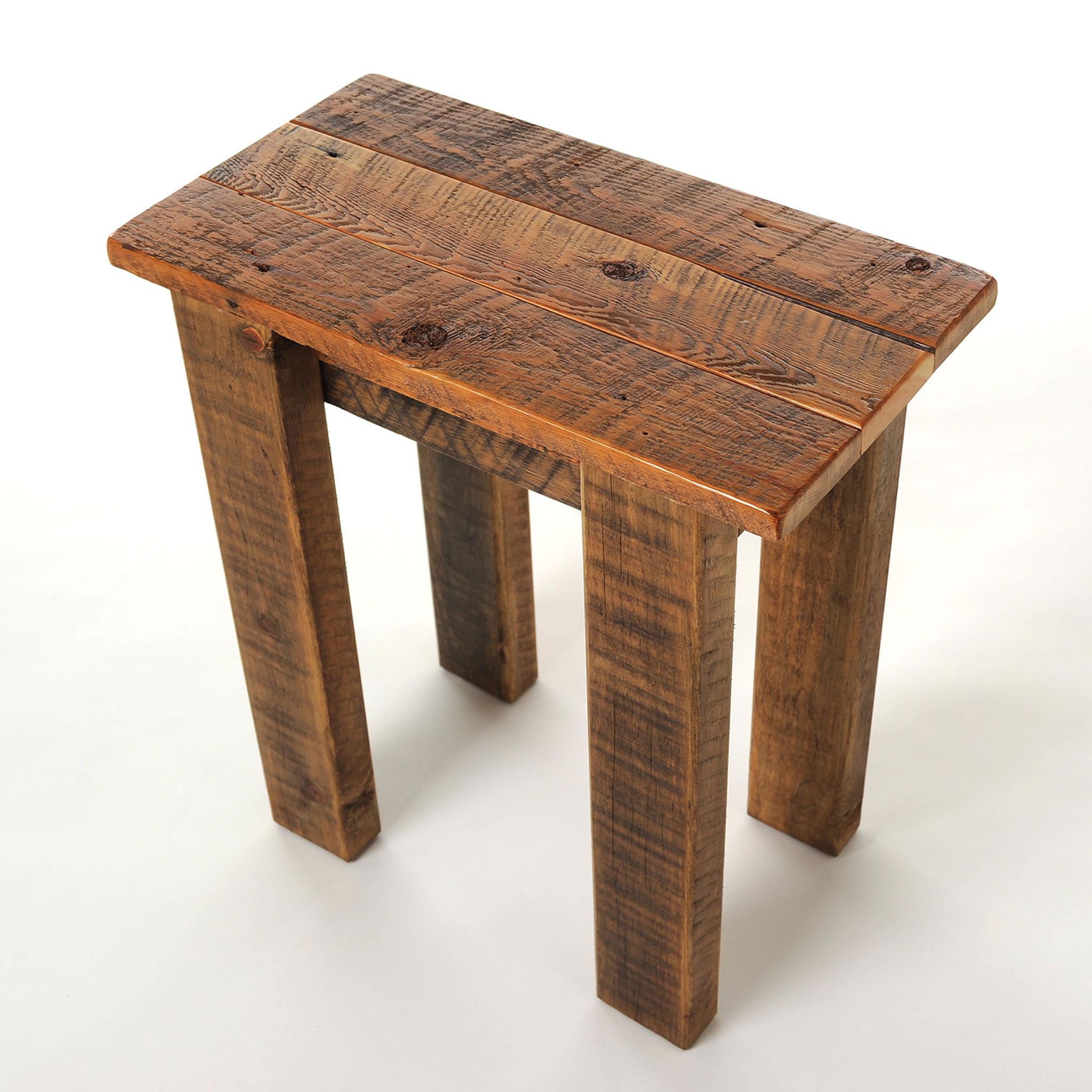 simple reclaimed small barnwood end table four corner furniture bozeman mt