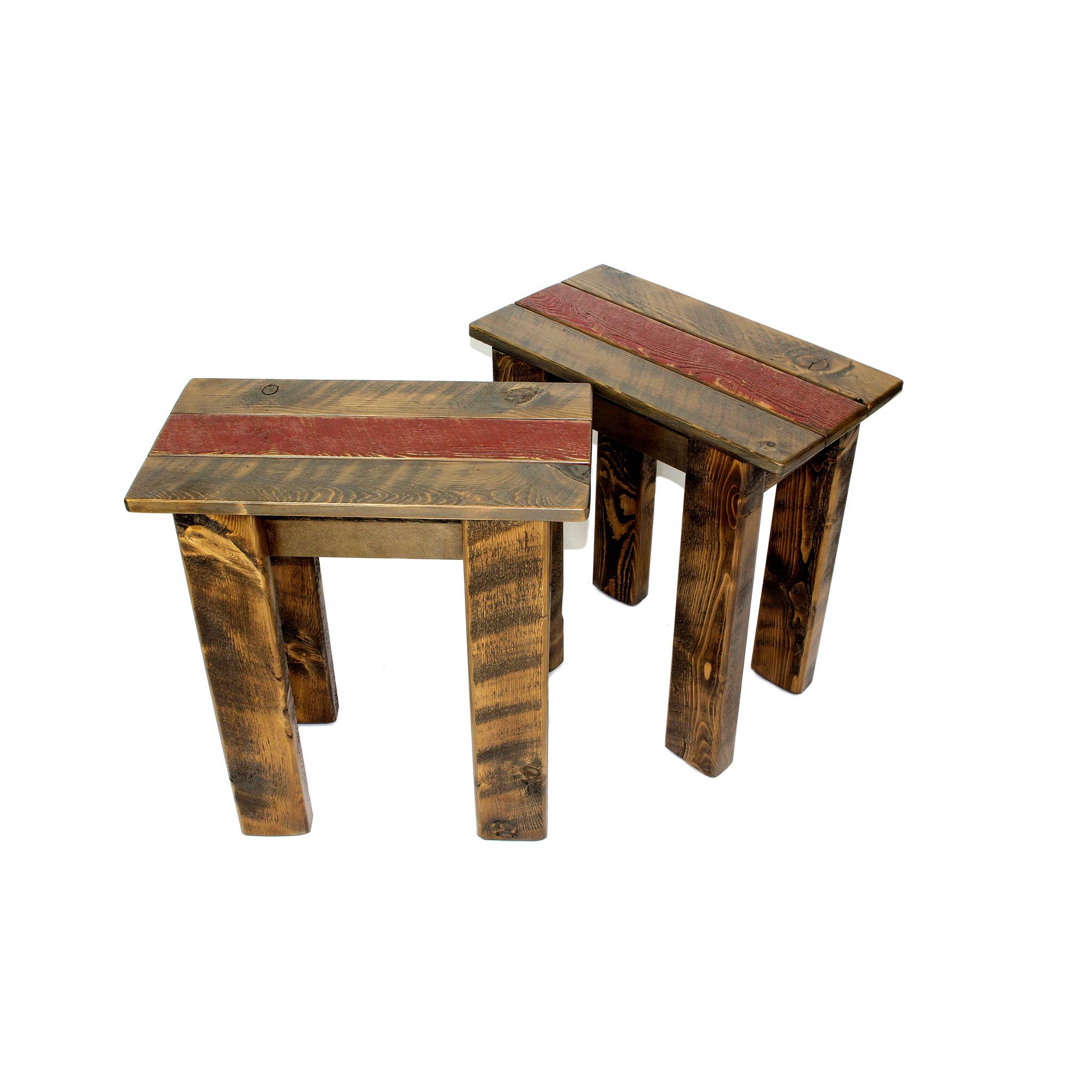simple small rustic side table arizona