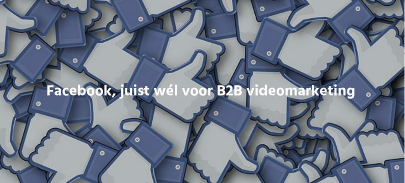 Facebook, juist wél voor B2B videomarketing