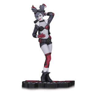HARLEY QUINN RED WHITE & BLACK STATUE BY ANT LUCIA