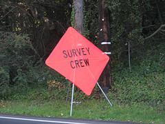 Survey Crew road sign