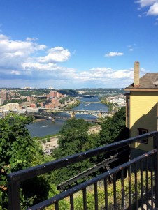 my hometown of Pittsburgh. 3 rivers and lots of bridges.