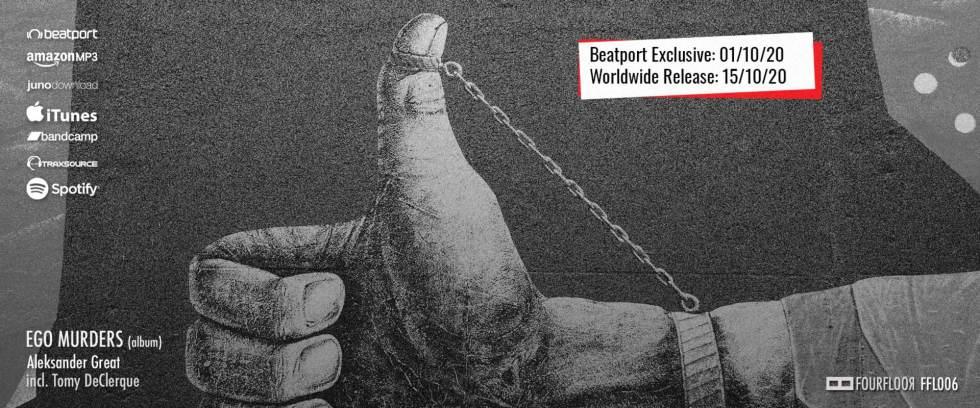 Ego Murders (album) cover photo announcement - Aleksander Great, Tomy DeClerque, Fourfloor