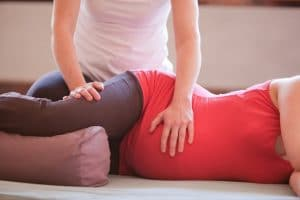 Pregnancy Woman Receiving Shiatsu