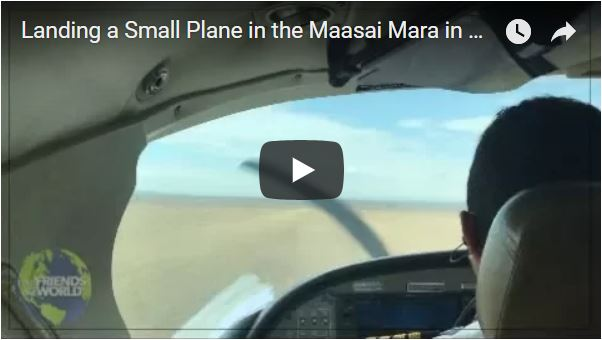 Landing a plane on the Maasai Mara Keny