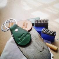 Pear Shaped Leather Key Holder, MYR 35 each