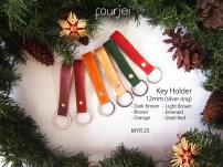 Leather Key Holder 18mm (silver ring), MYR 25 each