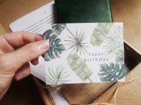 Personalised message on card