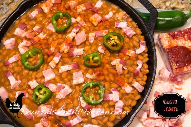 cast iron slow cooked beans