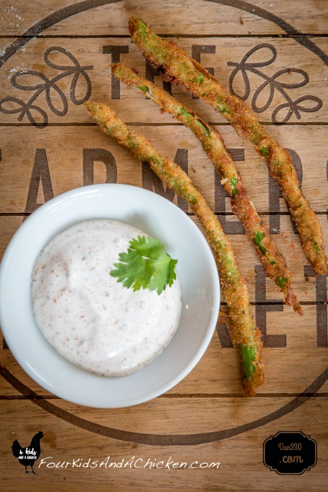 asparagus with ranch dip