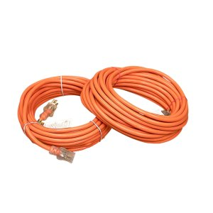 12 Gauge SJTW Heavy Duty Orange Extension Cord with Single Lighted End