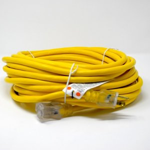 10 GAUGE SJTW HEAVY DUTY YELLOW EXTENSION CORD - SINGLE LIGHTED ENDS