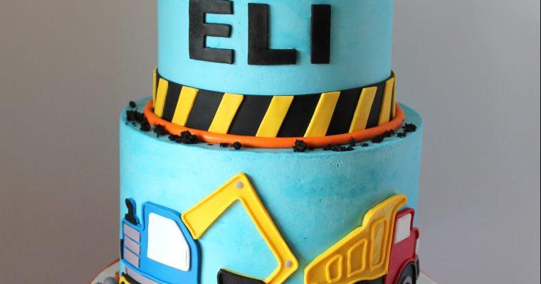 Eli's Construction Themed First Birthday Cake