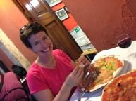 pizza with zucca di fiore