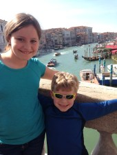 kids on the Rialto Bridge