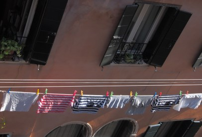 gondoliers shirts in the laundry across the way