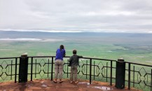 looking out over Ngorogoro Crater